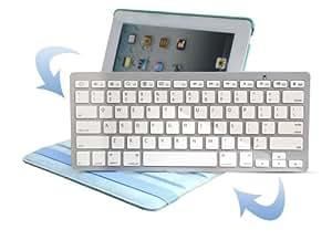 Trademarket® Slim Mini Bluetooth 3.0 Wireless Keyboard for iPad 4 / New iPad 3 / iPad Mini / Galaxy Tab / Galaxy Note / Nexus - White