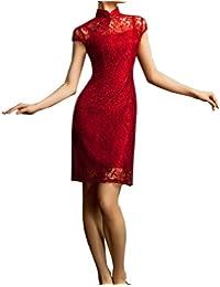 Traje Chino Cheongsam Qipao Vestidos asiaticos de coctel para boda #107