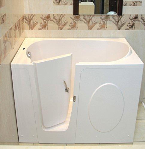 Preisvergleich Produktbild Senioren Sitzbadewanne ELEGANCE 115x68x90 cm Links Seniorenbadewanne Sitzwanne Badewanne mit Tür