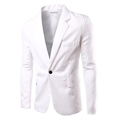 Men Notched Lapel Blazer One
