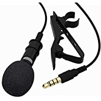 Eazories 3.5 mm Mini Lavalier Digital Noise Cancellation Clip Collar Mic Condenser for Voice Recording, Mobile, PC…