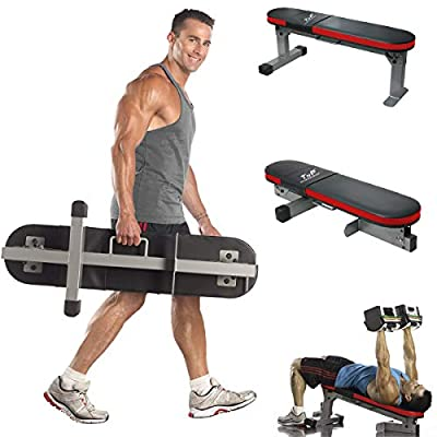 TnP Accessories. Folding Weight Bench Foldable Gym Workout Exercise Flat Decline Fold Away Weight Bench Press by TnP Accessories.