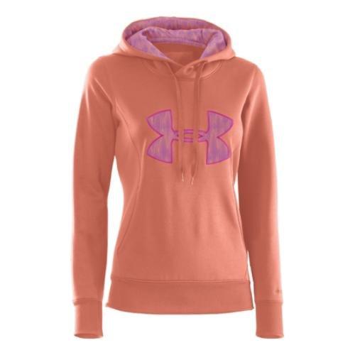 Under Armour Armour Fleece Storm Big Logo Hoody-Frauen, Damen, Electric Tangerine/Pinkadelic/Bright Orange, Large Big Logo Hoody