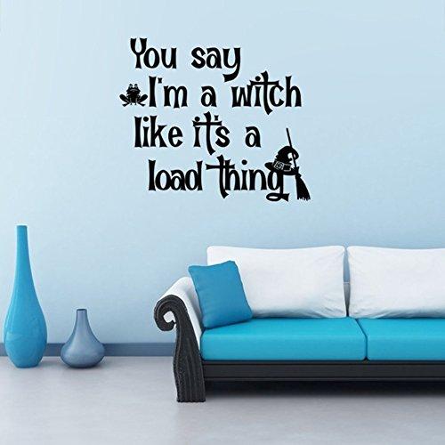 wandaufkleber baby sterne Halloween Home decoration Brief Zitate Sie sagen, ich bin eine Hexe wasserdicht