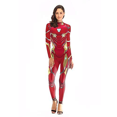 Iron Man New Nanosuit Printed Jumpsuit Cosplay,L/XL ()