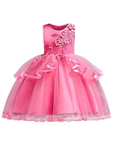 Transformers Kostüm Mädchen - OBEEII Mädchen Festzug Stickerei Prom Kleider Prinzessin Hochzeit Kleidung 7-8 Jahre