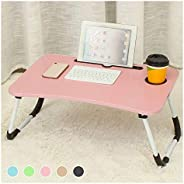 Table Mobile Workstation Table Folding Laptop Table With slot hole Computer Table sleep for sofa bed study des
