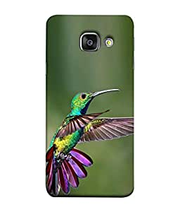 PrintVisa Colorful Bird 3D Hard Polycarbonate Designer Back Case Cover for Samsung A9 Pro Duos (2016)