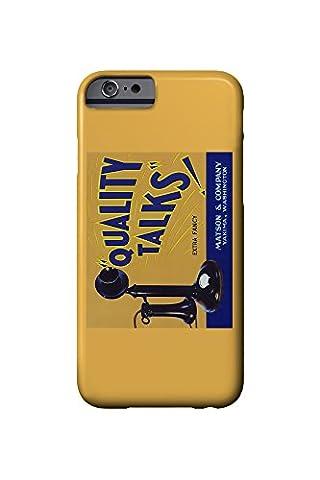 Yakima, Washington - Quality Talks Brand Apple Label (iPhone 6 Cell Phone Case, Slim Barely There)