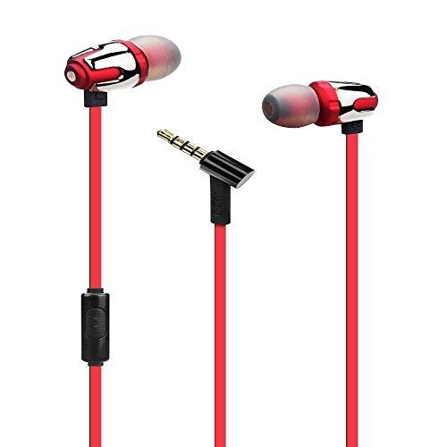 ULTRICS® ad alta definizione in Ear cuffie in alluminio, bassi profondi per Audio Stereo In-Ear Auricolari Con isolamento acustico auricolari con microfono per iPhone, iPad, iPod, Samsung Galaxy, HTC, LG, Nokia Microsoft Tablet Android Smartphone, Laptop