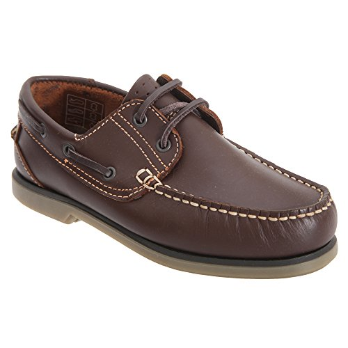 Dek Boys Moccasin Boat Shoes (5 UK) (Brown)