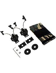 Z-Tactical casco ARC adaptador de carril Juego Auriculares para Comtac I/II Airsoft Wargame, negro