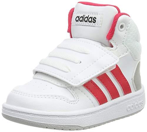 adidas Baby Jungen Hoops MID 2.0 I Sneaker, Mehrfarbig (FTWR White/Active Pink/Core Black F35835), 24 EU -