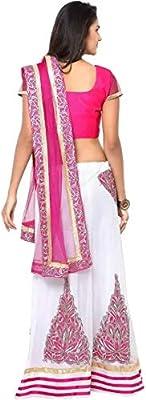 Clickedia Women's Georgette Lehanga Choli, Free Size(Pink)