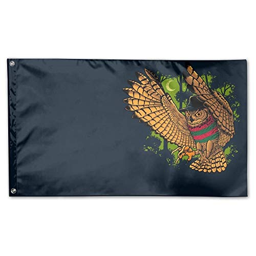 WEERQ Garden Flag Owl Bird Freddy Krueger Outdoor Yard Home Flag Wall Lawn Banner Polyester Flag Decoration 30x45CM