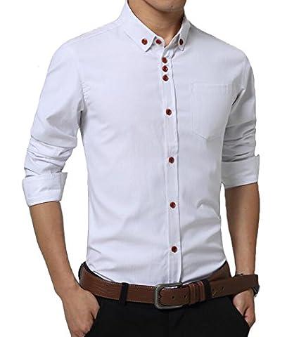 DD.UP Business Plain Solid Color Cotton Casual Slim Fit Chemise