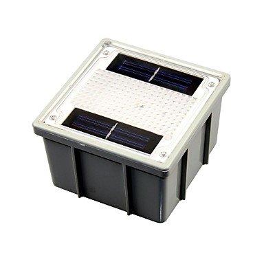 ZLJ Solar Outdoor-Gartenweg Block gelbem Backstein 2-LED Leuchten