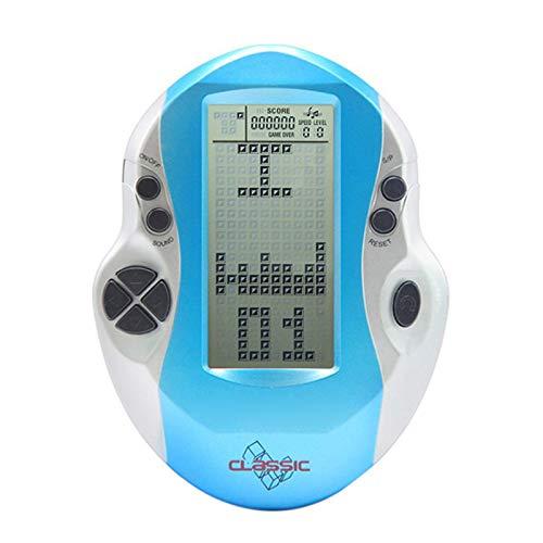 TOOGOO Retro Klassiker Tetris Handheld Spielers Kindheit Elektronische Spiele Spielzeug Led Spiel Konsole Mit Gro? Bildschirm Blau & Silber (Tetris-spiel Handheld)