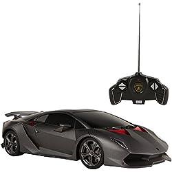 Rastar - Coche radio control 1:18, Lamborghini Sesto Elemento, negro (ColorBaby 41135)