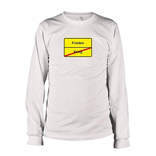 TEXLAB - Schluss mit Krieg Schild - Langarm T-Shirt, Herren, Größe XXL, weiß