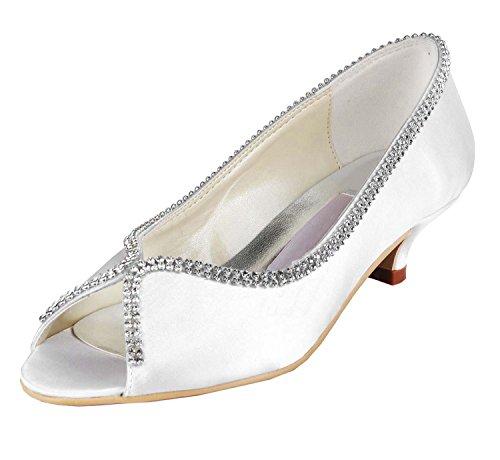 Minitoo , Chaussures de mariage tendance femme White-5cm Heel