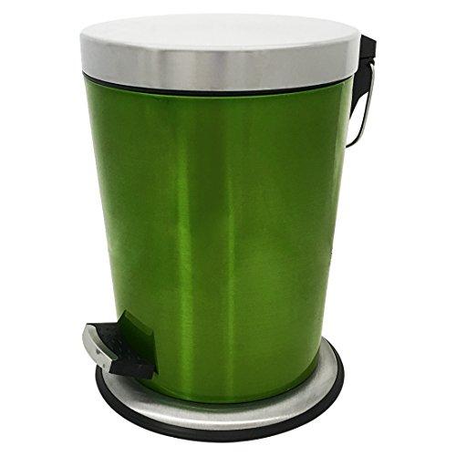 Edelstahl Treteimer Kosmetikeimer Mülleimer Abfalleimer Inneneimer Küche Badezimmer 5L Grün ME4708gn