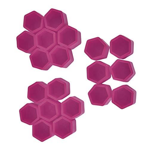 Funnyrunstore Purple 20Pcs / Set 17/1 / 21mm Couvercle de vis pour moyeu de roue Style de voiture Protection Boulon Écrou Bouchons Pneus Décoration extérieure (19#)