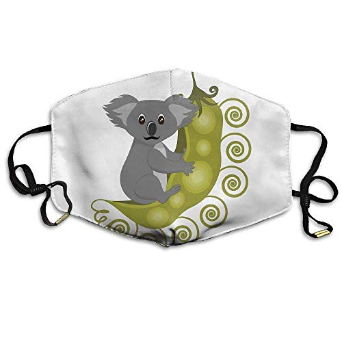 Daawqee Masques, Australian Koala Bear Printed Mask Neutral Mask for Men and Women Polyester Dust-Proof Breathable Mask