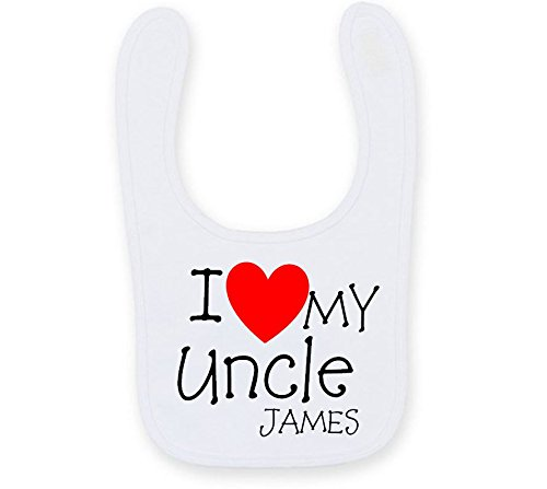 I Love My Uncle Bavoir bébé personnalisé