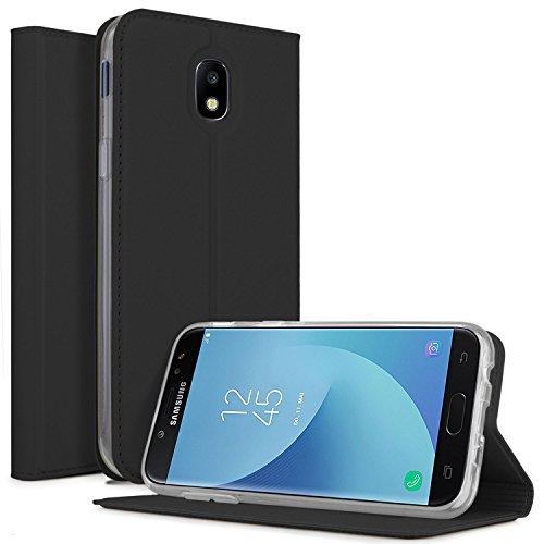 KuGi funda Samsung Galaxy J5 2017, Soporte Plegable, para Samsung Galaxy J5 2017 Smartphone( Negro)