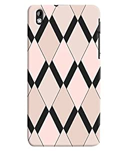 Citydreamz Zig Zag Lines\Pattern Hard Polycarbonate Designer Back Case Cover For HTC Desire 816