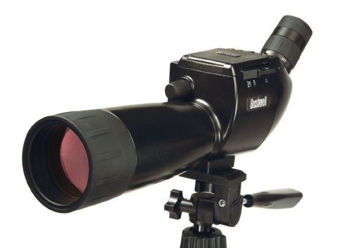 Scope Bushnell (Bushnell Fernglas 15-Image View Spotting Scope W/5Mp, Lcd, Sd, schwarz, 45X70MM, 111545)
