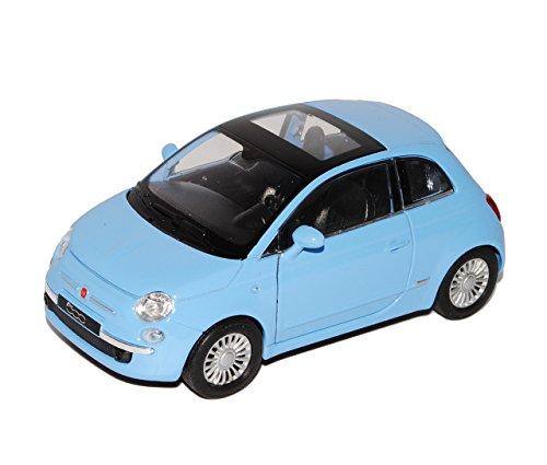 Preisvergleich Produktbild Fiat 500 Nuova Blau Coupe Ab 2007 ca 1/43 1/36-1/46 Welly Modell Auto mit individiuellem Wunschkennzeichen