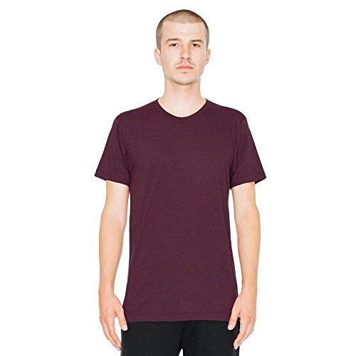American Apparel - Unisex Tri-Blend Shortsleeve Track T tri-cranberry