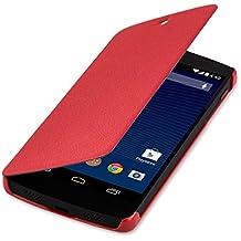 kwmobile Étui de protection à rabat pratique et chic pour LG Google Nexus 5 en rouge