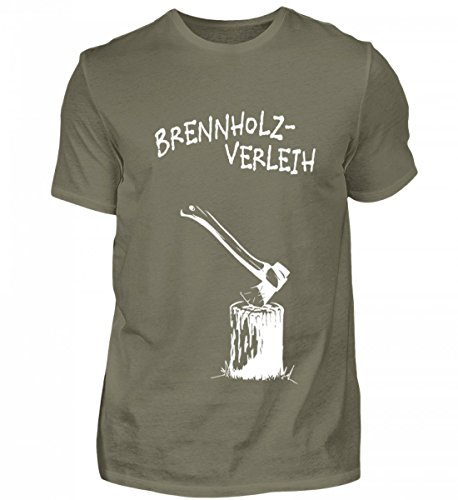 Hochwertiges Herren Premiumshirt - lustiges Motiv für Alle, die Gerne mit der Spaltaxt Holz Hacken...