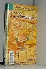 INTRODUCTION A L'ANALYSE STYLISTIQUE. 2ème édition Broché