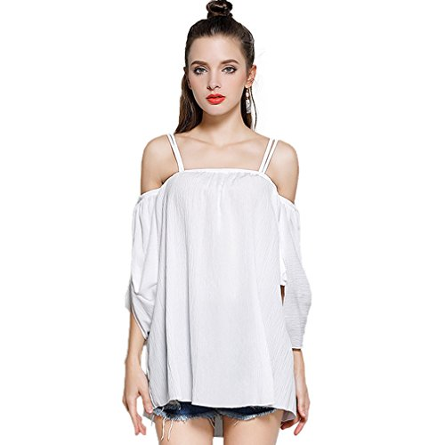 Fur Story 17B107 Femme Robe manches courtes ¨¤ manches courtes Blanc