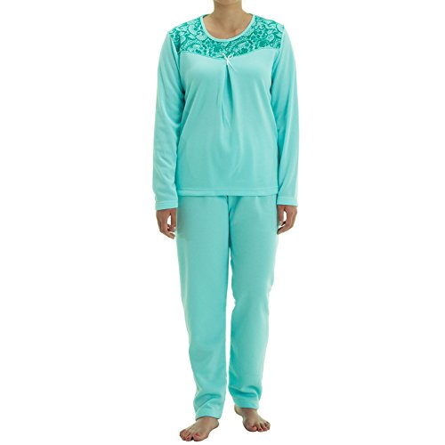 Lucky Damen Thermo Pyjama mit Schleife, Größe:L;Farbe:Mint