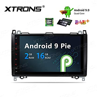 XTRONS-9-Autoradio-mit-Touch-Screen-Android-90-Quad-Core-Multimedia-Player-Autostereo-untersttzt-4G-WiFi-Bluetooth50-Auto-Musik-Streaming-2GB-16GB-DAB-OBD2-FR-Mercedes-Benz