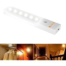 Sensor de Luz Led de Pared Luces de Noche,TFZ® sensor de movimiento Wireless para Recargable Armario de Gabinete con interruptores de luz y banda magnética para el dormitorio,cajonera, escaleras, etc. (Operada con USB,3 modos)
