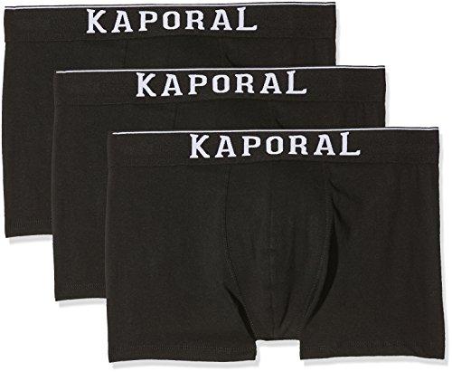 KAPORAL Herren Badehose Quad, 3er Pack Noir (Black)
