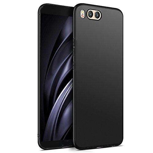 Olliwon Xiaomi Mi 6 Hülle, Passgenaues Anti-Fingerabdruck Dünn Leicht Ultra Slim Schutz Handyhülle Bumper Case für Xiaomi Mi 6 - Matt Schwarz