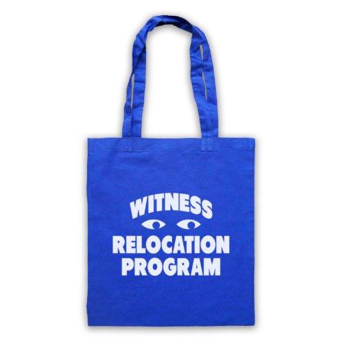 Witness trasferimento programma Funny Slogan Tote Bag Blu