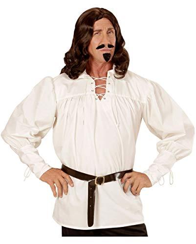 terliches Schnürhemd als historisches Karneval & Halloween Kostüm cremefarben M ()