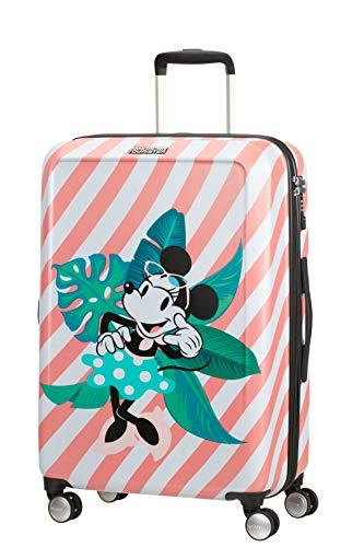 American Tourister Funlight Disney Spinner Valigia 67 Cm, 66 L, Multicolore (Minnie Miami Holiday)