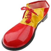 Payaso Para Adultos Cubre Zapato De Los Niños Del Vestido De Lujo Del Traje De Circo Divertido El Accesorio Rojo