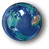 Blue Earth Marble With Natural Earth Con...