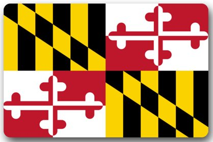 Maryland State Flagge Fußmatten Bezug Rutschfest maschinenwaschbar Outdoor Innen Badezimmer Kitchen Decor Teppich Matte Welcome Fußmatte