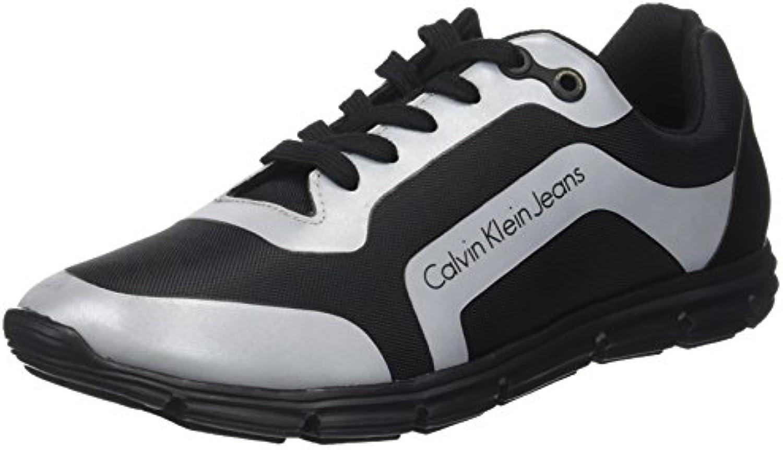 Calvin Klein Herren Morris Nylon/HF Reflex Sneaker  Schwarz